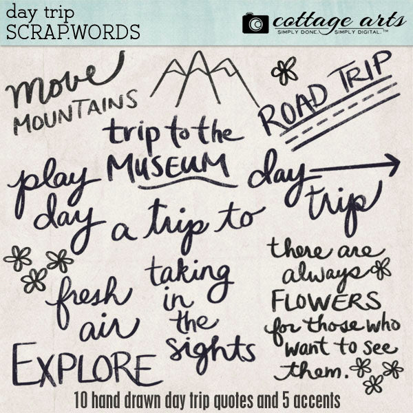 Day Trip Scrap.Words