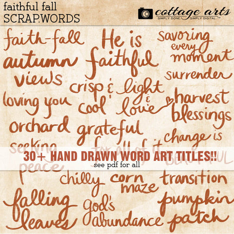 Faithful Fall Scrap.Words
