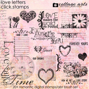 Love Letters 1 Brushes & Stamps