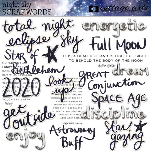 Night Sky Scrap.Words