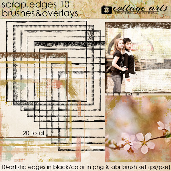 Scrap.Edges 10 Brushes & Overlays