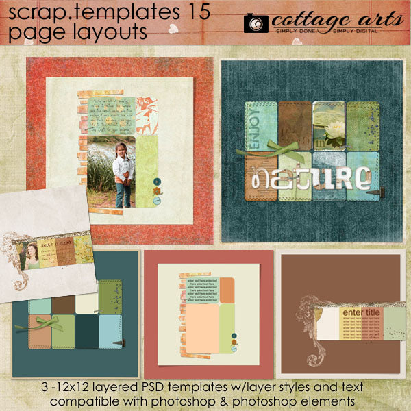 Scrap Templates 15 - Page Layouts