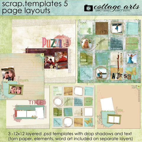 Scrap Templates 5 - Page Layouts
