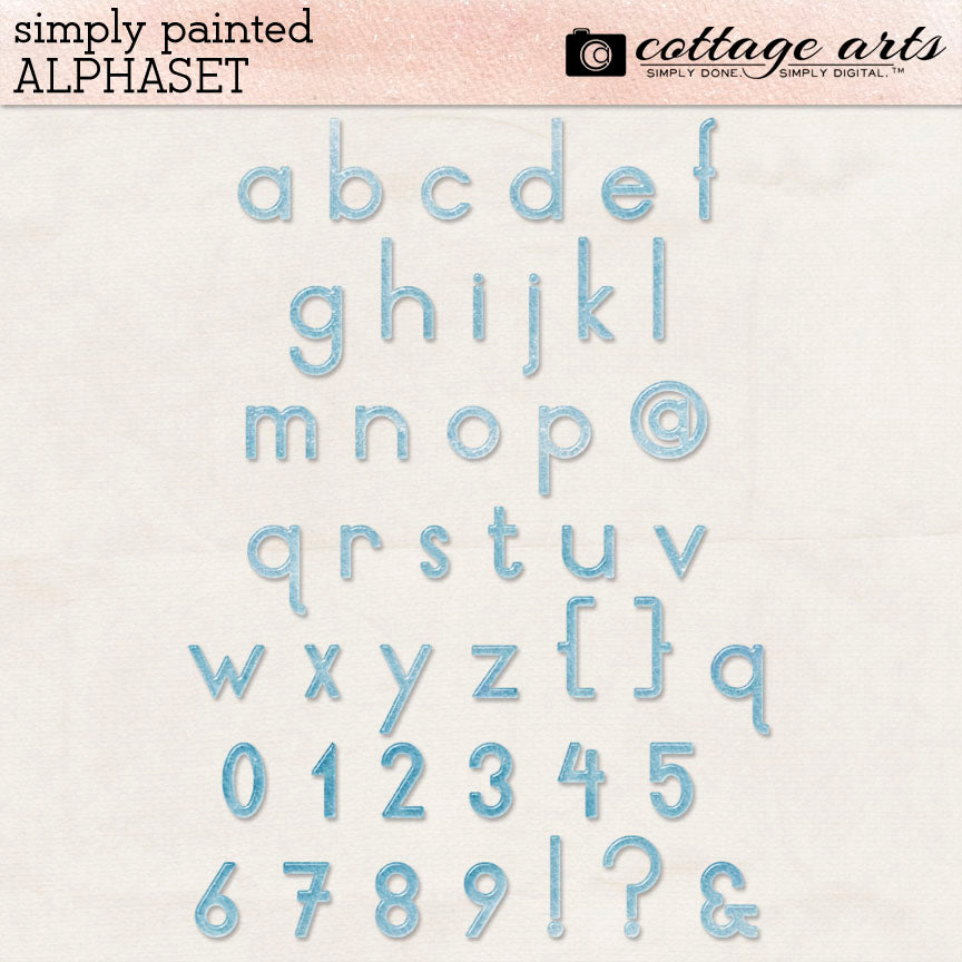 Simply Painted AlphaSet