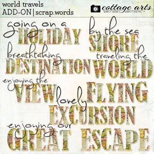 World Travels Add-on Scrap.Words