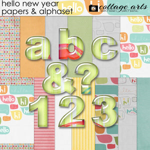 Hello New Year Papers & AlphaSet