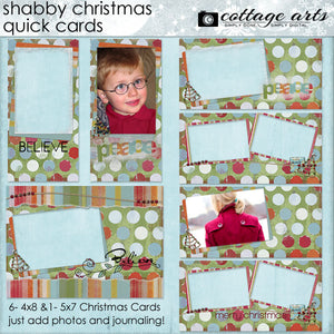 Shabby Christmas Quick Cards
