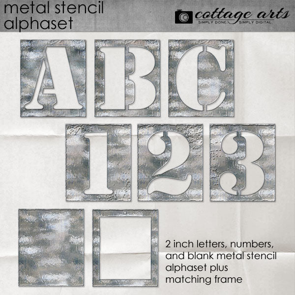 Metal Stencil Alphaset