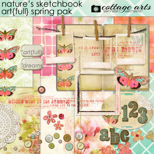 Nature's Sketchbook Art-full Spring Page Pak