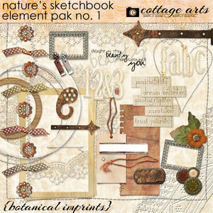 Nature's Sketchbook - Elements 1 - Botanical Imprints