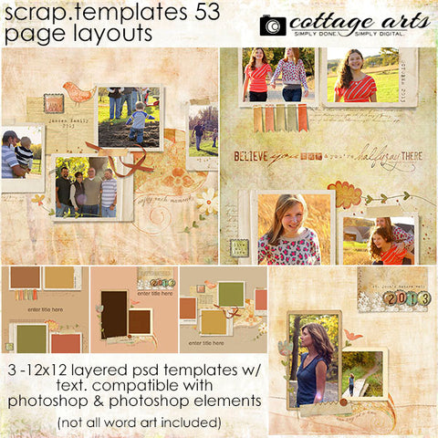 Scrap Templates 53 - Page Layouts