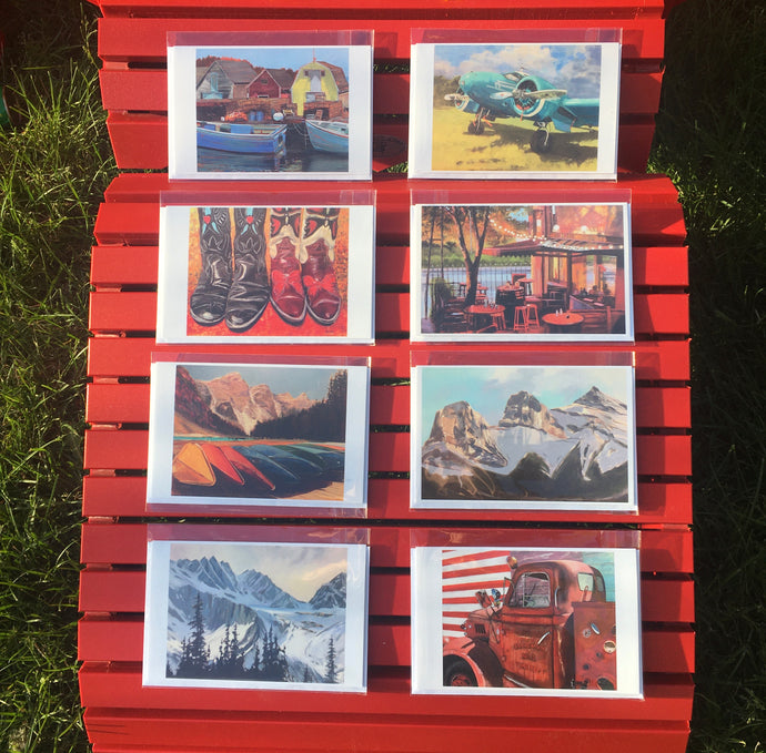 SET of 8 ART CARDS -