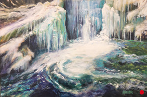 "Whirlpool, 20 x 30"", Oil  SOLD"