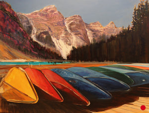 "SOLD .... Canoes For You, 30 x 40"" Acrylic"