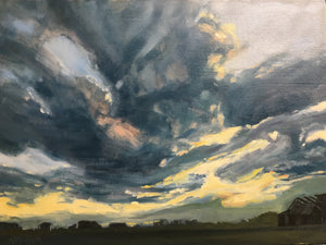 "Alberta Skies, 12 x 16"" SOLD by Ice House Gallery, Nova Scotia"