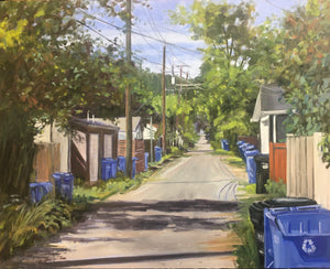 "Blue Bin Day, 16 x 20"" Oil"