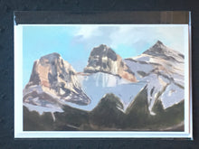 "Load image into Gallery viewer, Three Sisters, Canmore, AB. 20 x 30"" Oil"