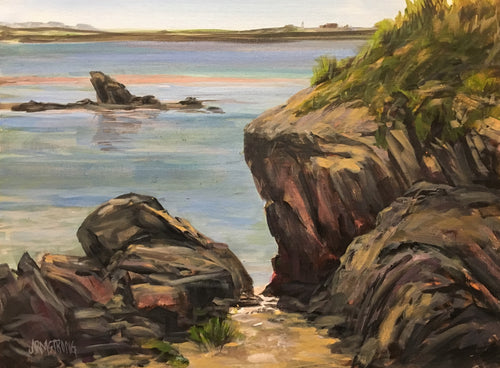 Cape Forchu, NS 12 x 16 Acrylic Plein air