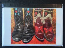 "Load image into Gallery viewer, Kick Up Your Heels II, 24 x 30"" Acrylic"