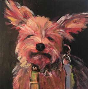 """Did I hear Walk?"", 12 x 12"" Acrylic on Canvas"