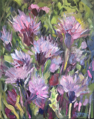 Scottish Thistles, 10 x 8