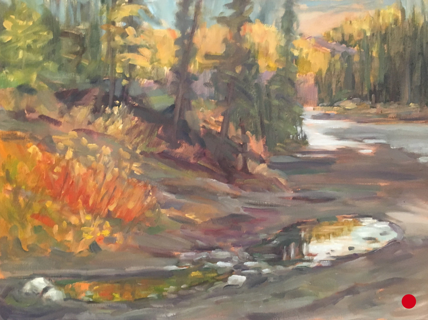 SOLD Elbow River Puddles, 12 x 16