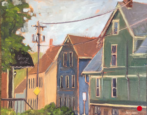 "SOLD .... Charlottetown, PEI, 12 x 16"" Oil Plein air on panel"