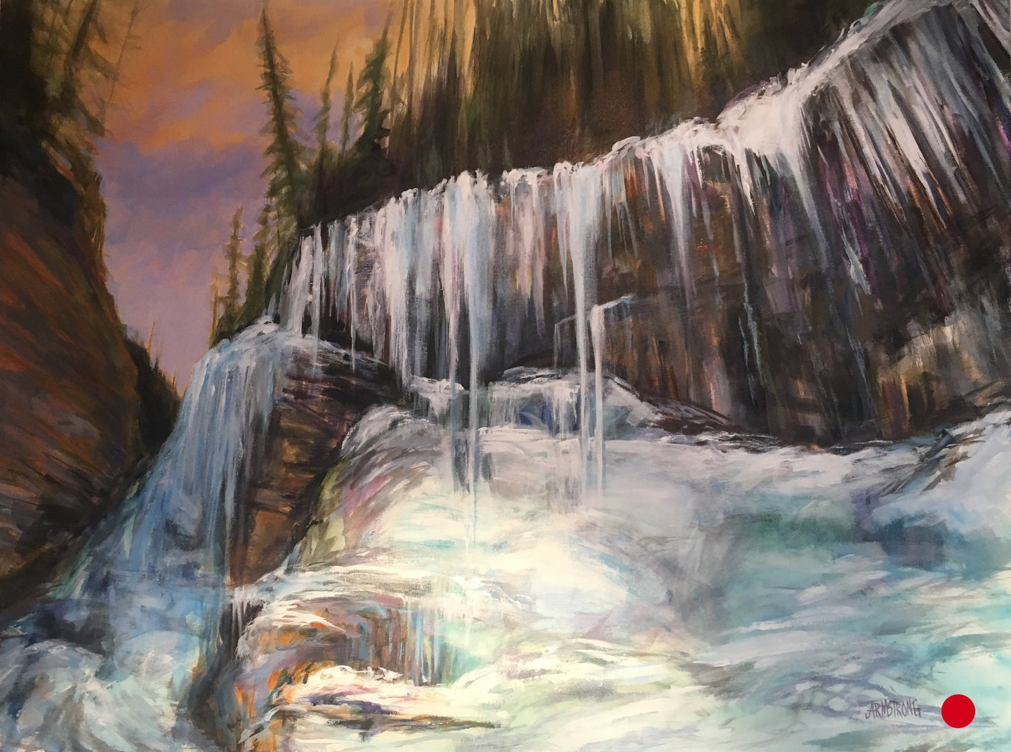 SOLD Johnson's Canyon Ice, 24 x 30