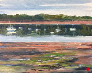 "Early Morning in St. Andrews, NB, 8 x 10"" Oil Plein air oil SOLD"
