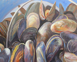 "Flexing My Mussels, 24 x 30"", Acrylic on canvas"
