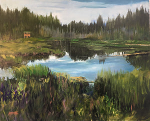 "The Lookout, Hinton AB, 24 x 30"" Oil (Framed)"