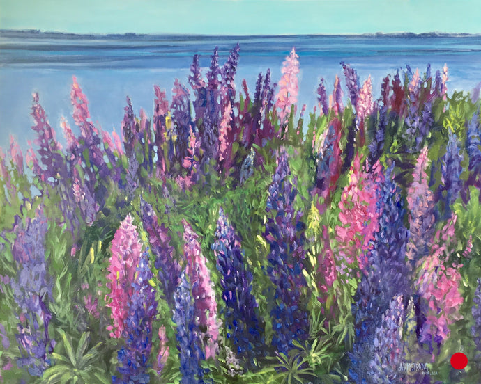 SOLD- Lupins in PEI, 24 x 30