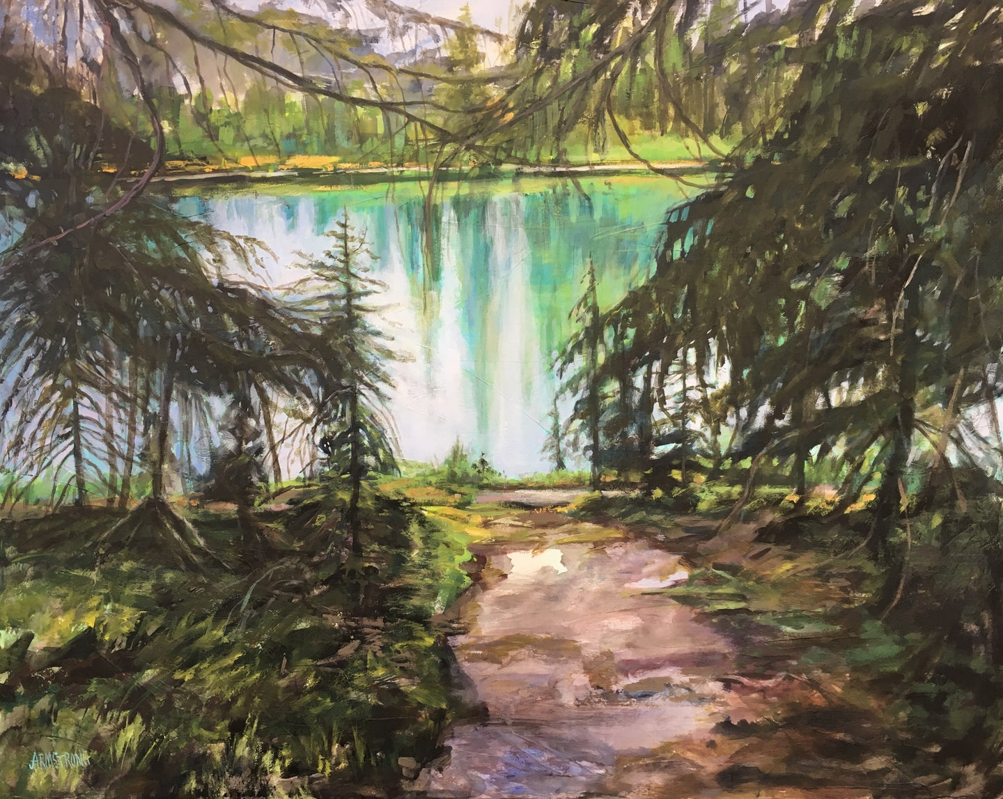 The Bow in Banff, 24 x 30