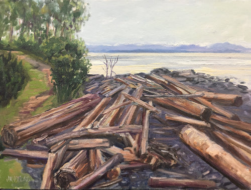 Perry's Beach, Comox, B.C. 12 x 16