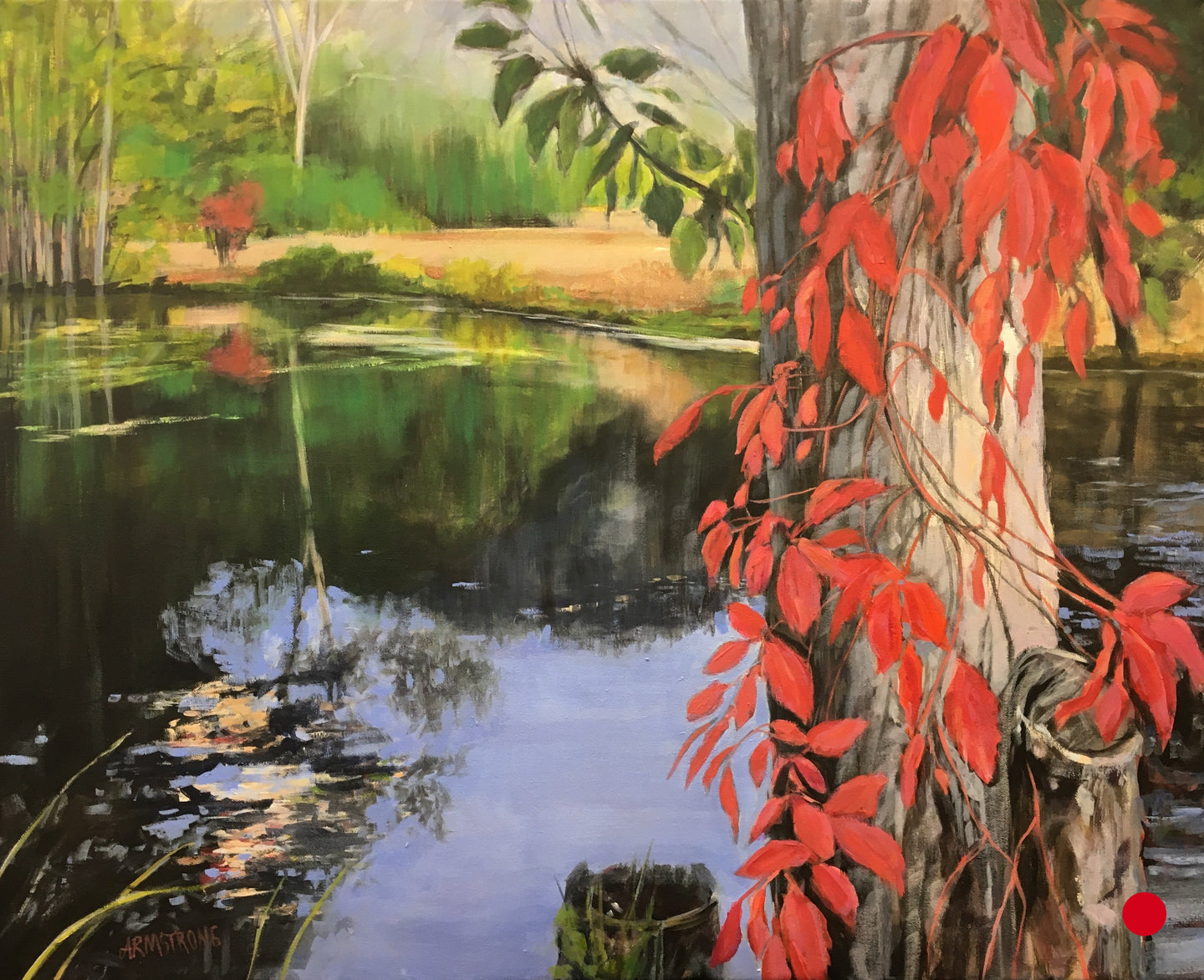 SOLD Tranquil Pond, 24 x 30