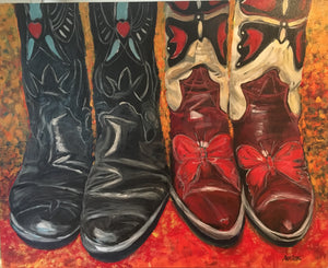"Kick Up Your Heels II, 24 x 30"" Acrylic"