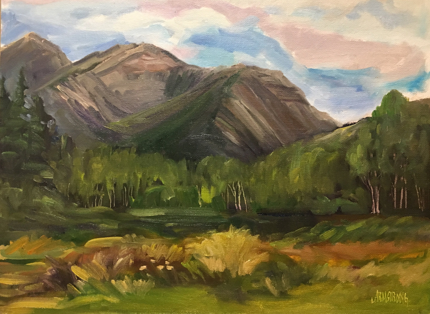 Kananaskis Slopes, 12 x 16