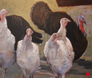 "SOLD Park Visitors, 30 x 36"" Acrylic"