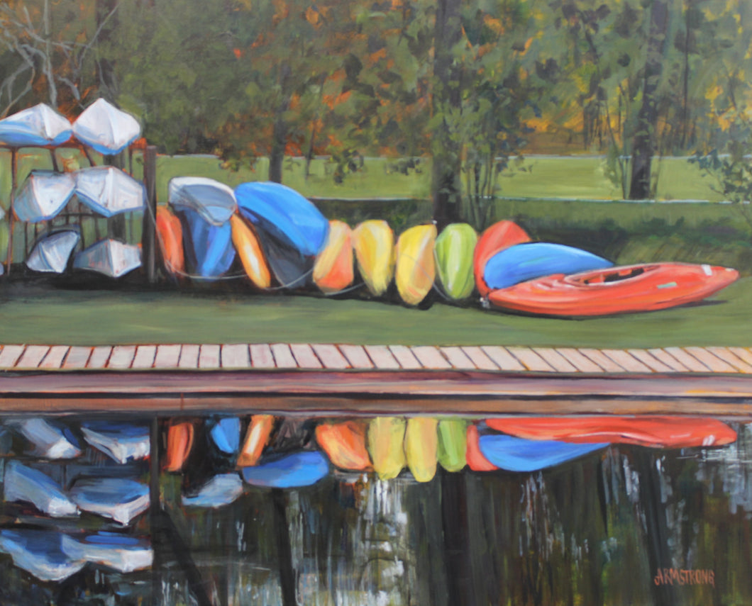 Quiet Time in Bowness Park, 24 x 30