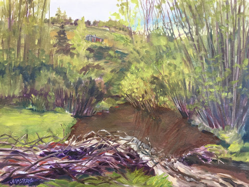 Spring Runoff, Cochrane Ranche, 12 x 16
