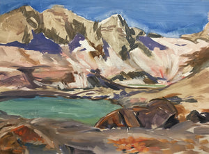 "The Pipeline #1, Bugaboos, 12 x 16"", Oil Plein air study"