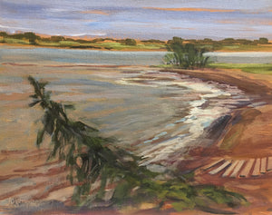 "Tide Coming In, PEI, 8 x 10"" Oil Plein air study"