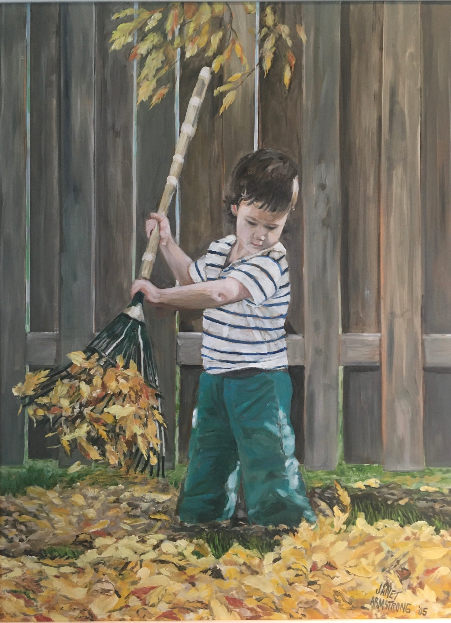 Raking Leaves, NFS - Private Collection