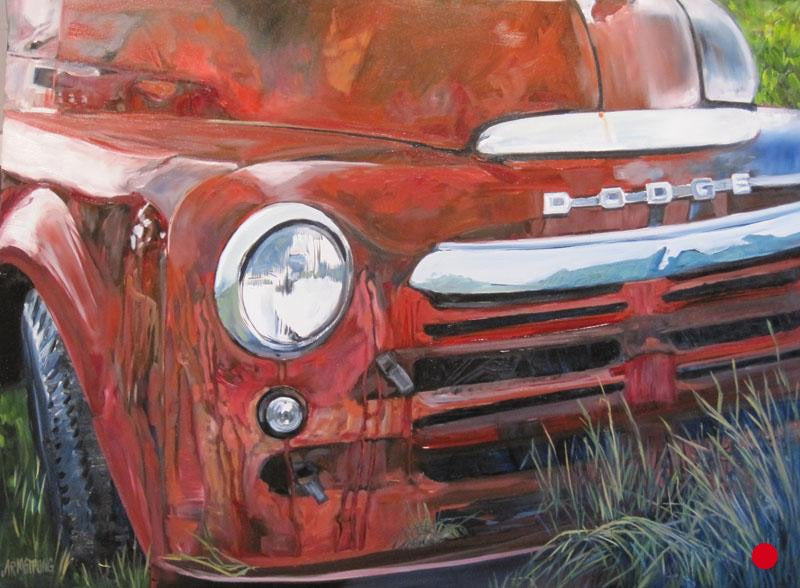 SOLD Old Pickup, 30 x 40