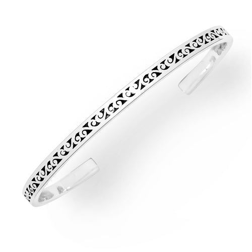 Signature Scroll Sterling Silver Cuff - Lois Hill Jewelry