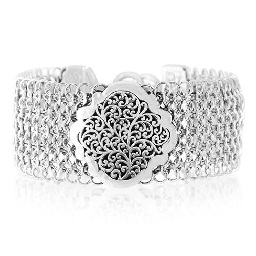 Classic Signature Scroll Chainmail Bracelet