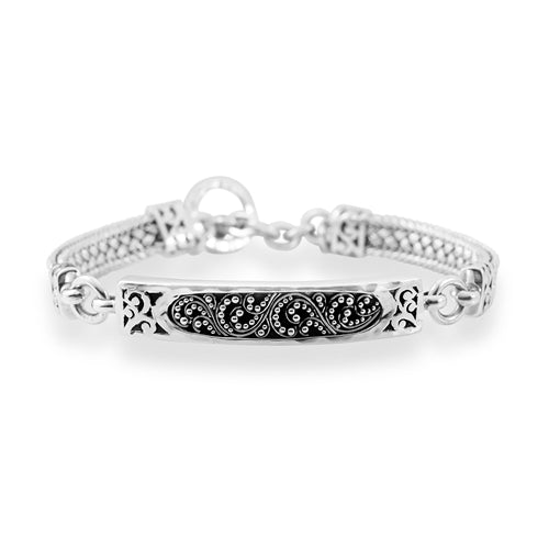 Classic Granulated & Cutout ID Woven Bracelet