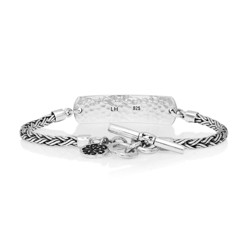 Classic Signature Scroll ID Bracelet - Lois Hill Jewelry