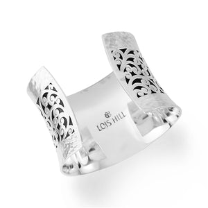 Classic Cutout Cuff with Hammered Borders