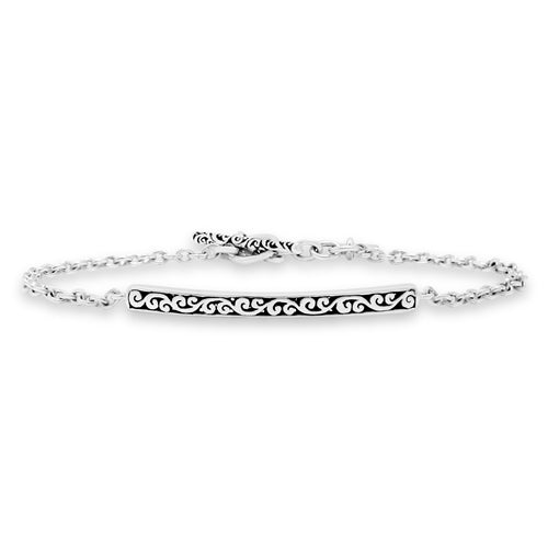 Signature Scroll ID Chain Bracelet - Lois Hill Jewelry